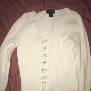 Lace-Up ribbed going out top